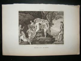 After Albane C1810 Antique Print. Diane et Acteon, Nudes